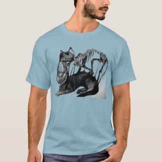 Erschrockenes Katzenskelettt-shirt T-Shirt