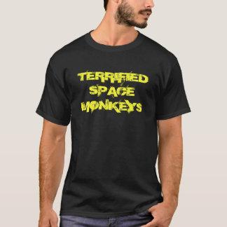 Erschrockenes Raum-Affe-Doppeltes versah T - Shirt