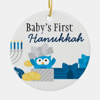 Erste das Chanukka-Verzierung des Babys Rundes Keramik Ornament