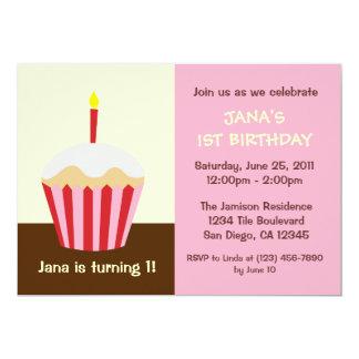 Erste der Geburtstags-Einladung des Babys 12,7 X 17,8 Cm Einladungskarte