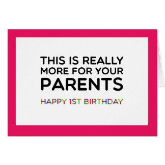 Erste der Geburtstags-Karte des Babys Karte