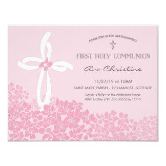 Erste die heilige Kommunions-Einladung des 10,8 X 14 Cm Einladungskarte