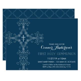 Erste die heilige Kommunions-Einladung des Jungen 8,9 X 12,7 Cm Einladungskarte