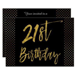 Erste Folien-Geburtstags-Einladung des Goldzwanzig 12,7 X 17,8 Cm Einladungskarte