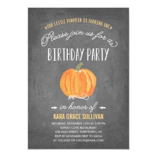 Erste Geburtstags-Einladung des Fall-Kürbis-| 12,7 X 17,8 Cm Einladungskarte