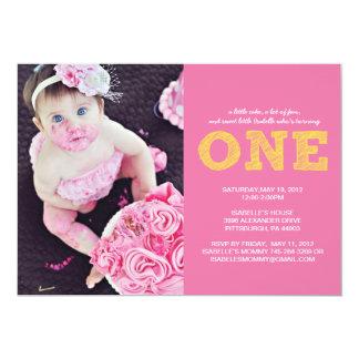 Erste Geburtstags-Einladung EINE 12,7 X 17,8 Cm Einladungskarte