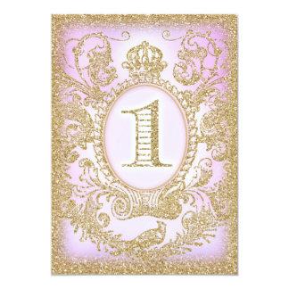 Erste Geburtstags-einst Prinzessin Purple 12,7 X 17,8 Cm Einladungskarte