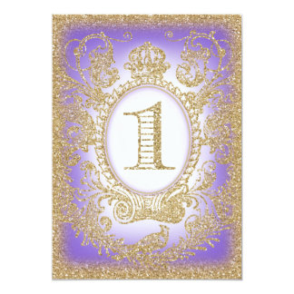 Erste Geburtstags-einst Prinzessin Purple 2 12,7 X 17,8 Cm Einladungskarte