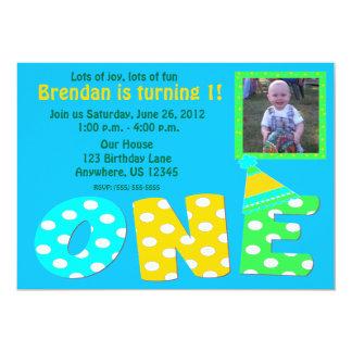 Erste Geburtstags-Jungen-Einladung 12,7 X 17,8 Cm Einladungskarte