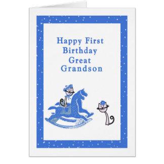 Erste Geburtstags-Karte groß - Enkel Grußkarte