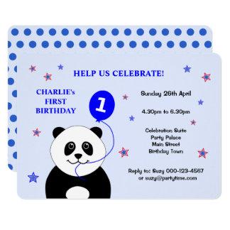 Erste Geburtstags-Party Einladung des niedlichen