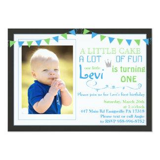 Erste Geburtstags-Party Einladungskrone Karte
