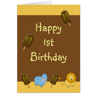 erste Geburtstagsgrüße Karte