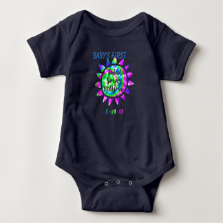 Erste Gesamtdie solareklipse-Farbgefärbte Krawatte Baby Strampler