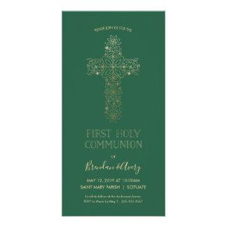 Erste heilige Kommunion laden - das Gold ein, Karte