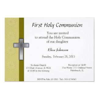 Erste heilige Kommunions-Einladung 12,7 X 17,8 Cm Einladungskarte