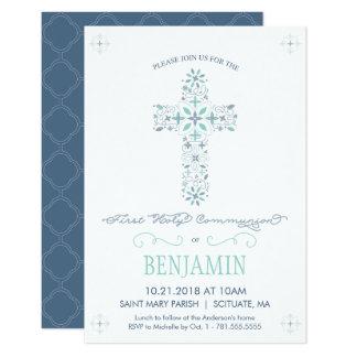 Erste heilige Kommunions-Einladung - Junge laden 8,9 X 12,7 Cm Einladungskarte