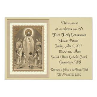 Erste heilige Kommunions-Einladungen 12,7 X 17,8 Cm Einladungskarte