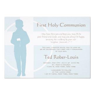 Erste Kommunion und Mitteilung - Junge 12,7 X 17,8 Cm Einladungskarte