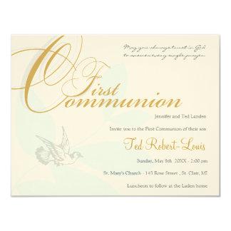 Erste Kommunions-Einladung 10,8 X 14 Cm Einladungskarte