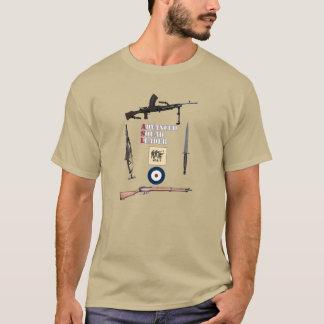 Erste Linie Gruppe ASL Briten mit Waffen-Grenze T-Shirt