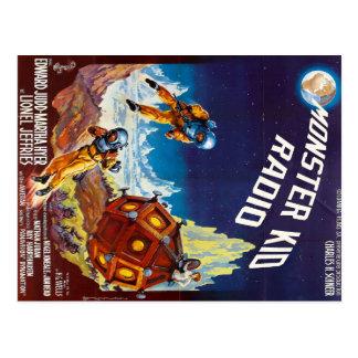 Erste Mond-Monster-Postkarte vom Postkarte
