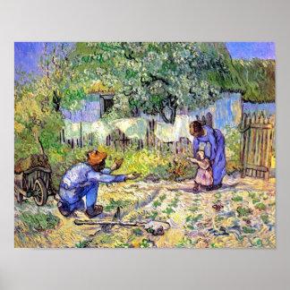 Erste Schritt-Plakat Van Gogh