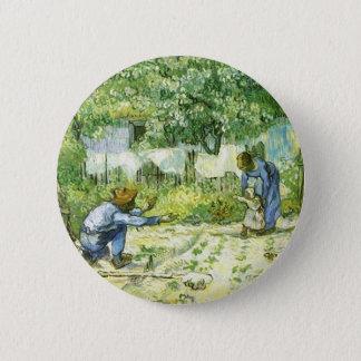 Erste Schritte, Vincent van Gogh 1890. Runder Button 5,7 Cm