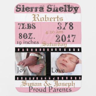 Erster Foto-Film-Streifen-personalisierte Baby-Decken