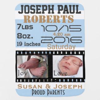 Erster Foto-Film-Streifen-personalisierte Babydecke