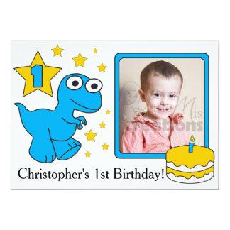 Erster Geburtstag Invitaions - Dinosaurier 12,7 X 17,8 Cm Einladungskarte