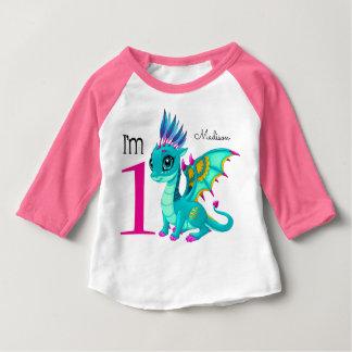 Erster Geburtstags-niedlicher Drache Baby T-shirt