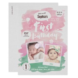 Erster Geburtstags-Party Karte
