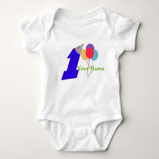 erster Geburtstagsbodysuit Baby Strampler