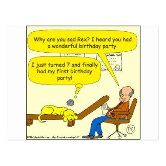 erster Party-Cartoon des Geburtstages 655 Postkarte