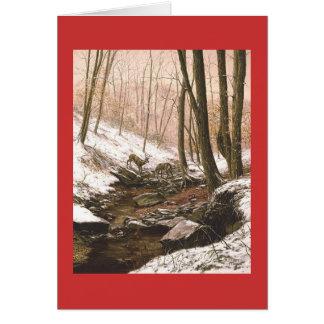 """""""Erster Schnee-"""" Feiertags-Gruß-Karte Pauls Grußkarte"""