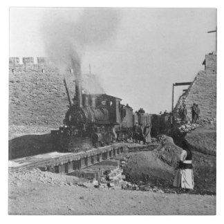 Erster Zug, der durch die Wand von Peking, Ch Keramikfliese