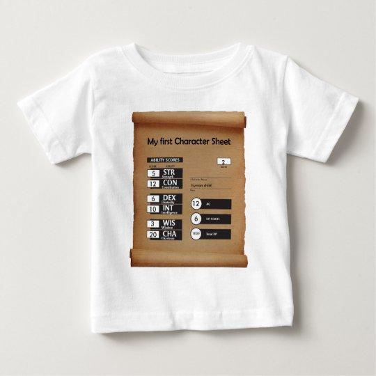 Erstes der Charakter-Blatt des Kindes (Alter 2) Baby T-shirt
