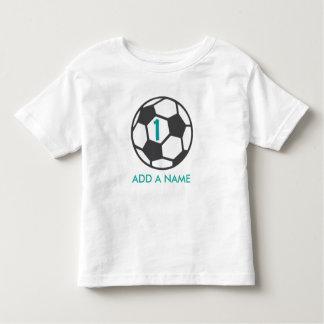 Erstes Geburtstags-Fußball-Ball-Shirt Kleinkind T-shirt