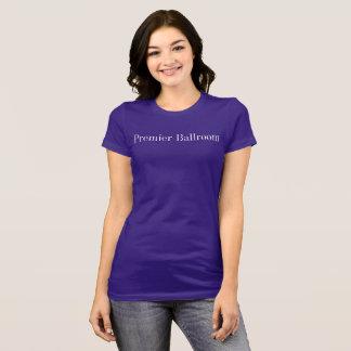 Erstes Sitz Ballroom dünnes Jersey-T-Shirt lila T-Shirt
