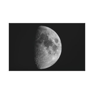 Erstes Viertel-Phase des Mondes Leinwanddruck