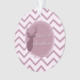 erstes Weihnachten des rosa Babys Ornament