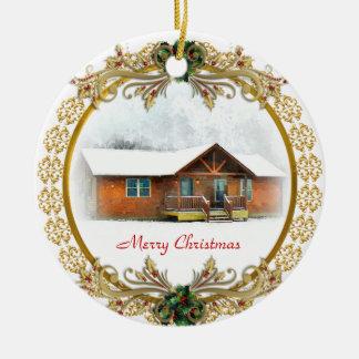 Erstes Weihnachten in der neuen Zuhauseverzierung Keramik Ornament