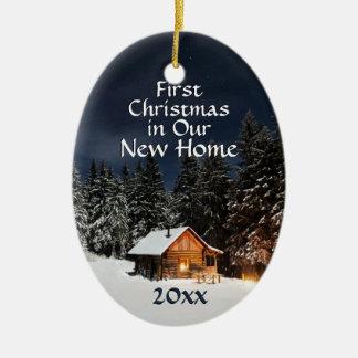 Erstes Weihnachten neues in der Keramik Ornament