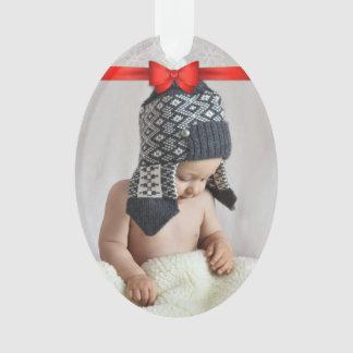 Erstes Weihnachtsgewohnheits-Foto Ornament