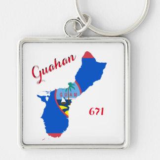 Erstklassige Schlüsselkette Guam-Stolz-671 Schlüsselanhänger