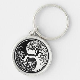Erstklassiges rundes Yin Yang Keychain Schlüsselanhänger