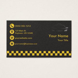 Erstklassiges schwarzes Taxi Visitenkarte