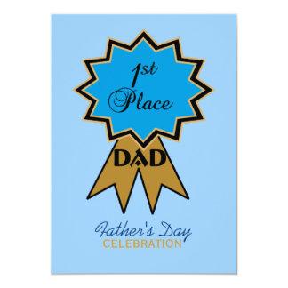 Erstplatz- der Vatertags-Einladung Band- 12,7 X 17,8 Cm Einladungskarte