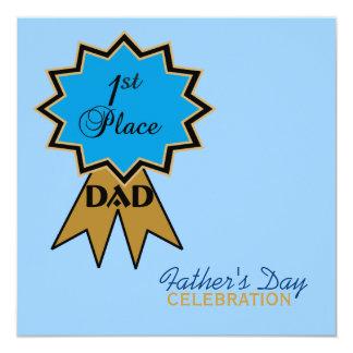 Erstplatz- der Vatertags-Einladung Band- Quadratische 13,3 Cm Einladungskarte